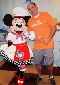Scott Trapp and Minnie Mouse