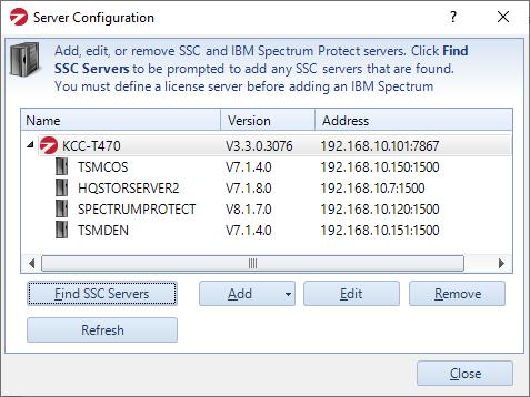 SSC Server Config screenshot