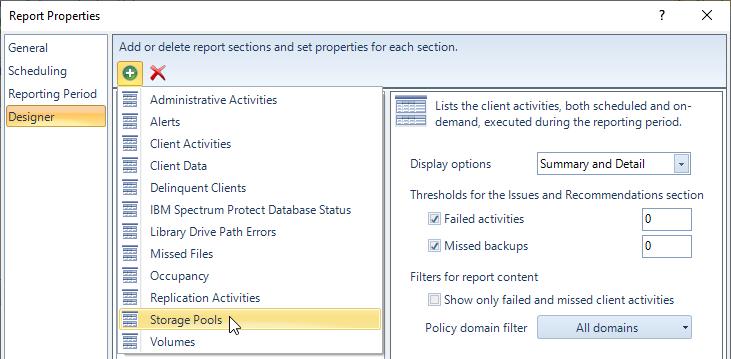 SSC Report Designer screenshot