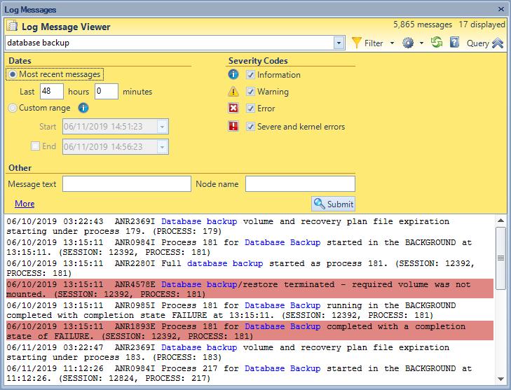 SSC Log Viewer screenshot