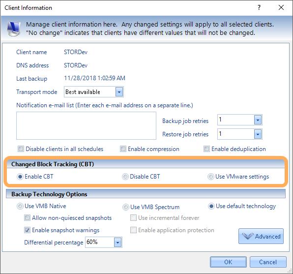 VMB Screenshot Client Info